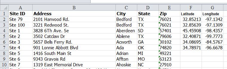 How to add add lat/long to your data for more precise