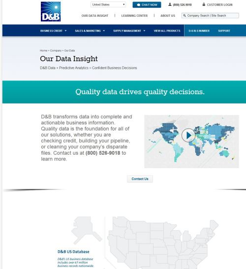 Figure 5 - D&B and their thoughts on data quality.