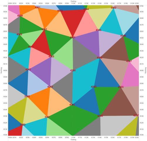 Figure 7 - Finite-elements drawn in color.