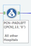 Figure 3 - Leading Zero Fields (LZF) can be restored in Alteryx with the padleft function shown here.