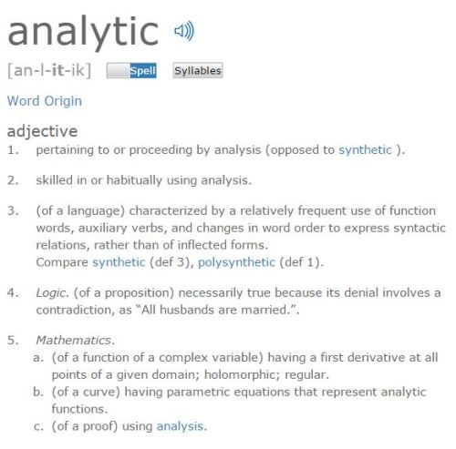 Figure 1 - Definitions for the work analytic.