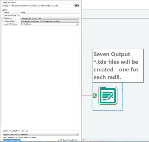 Figure 3 - The settings needed for Alteryx to automatically name output files using a field name.