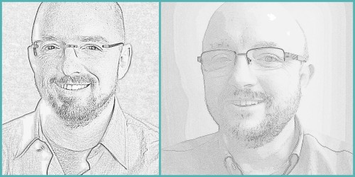 Figure 4 - Pencil sketch of Me and David or David and Me.