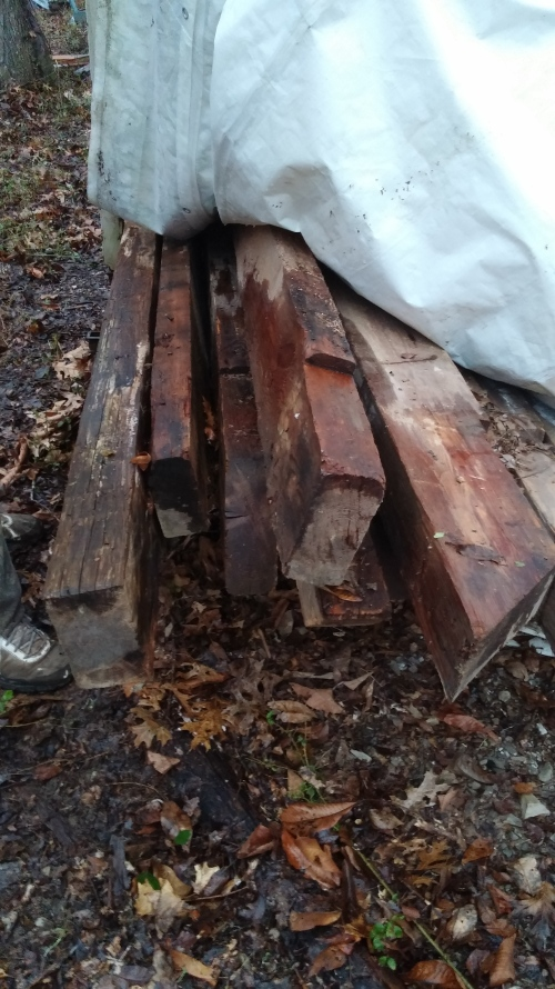 Figure 3 - Antique timbers still looking for a home.