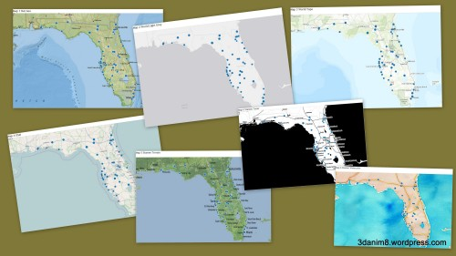 figure 3 - The seven Tableau maps contained in this blog post.