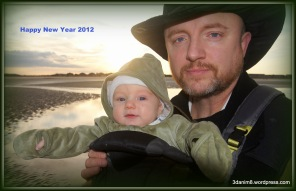 Baby Jett Black and Daddy Ken Black on Harbor Island, SC, 12/30/11.