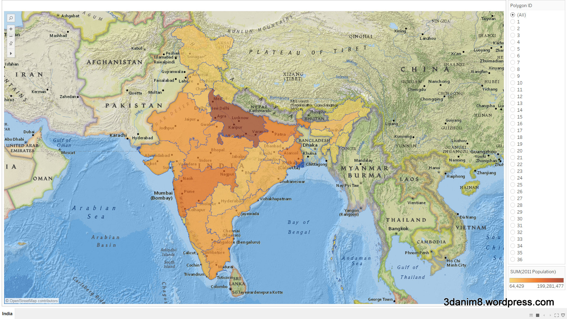Investigating India With Tableau 10 Custom Regions | Go To ...