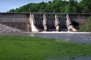 Figure 2 - A picture of the actual dam.