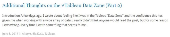 The Tableau Data Zone Part 2