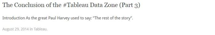The Tableau Data Zone Part 3