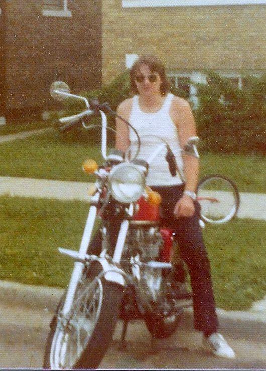 Danny's Honda 450, sometime in the 70's.