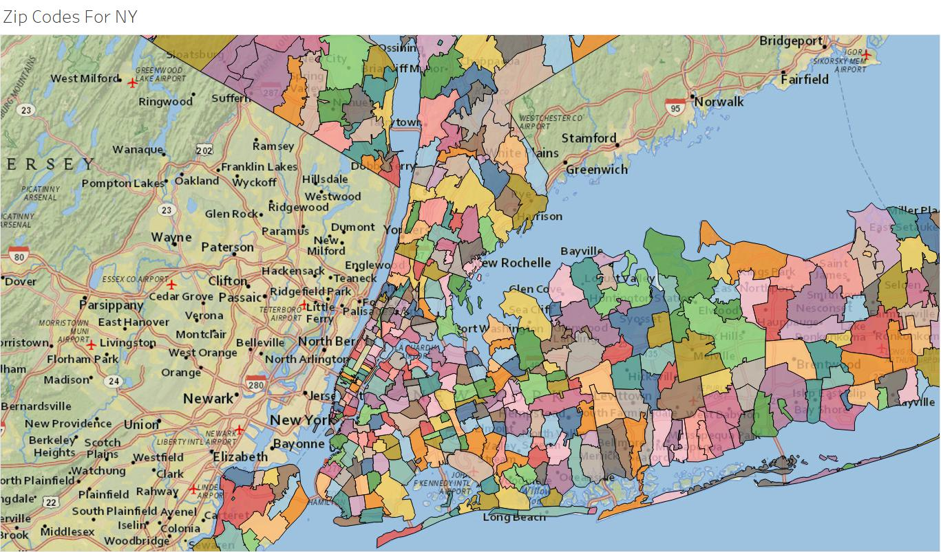 A Useful Usa Zip Code Shapefile For Tableau And Alteryx