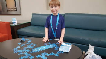 Figure 6 - Jett Black nearing 6 years old while in Las Vegas at the 2017 Alteryx conference.
