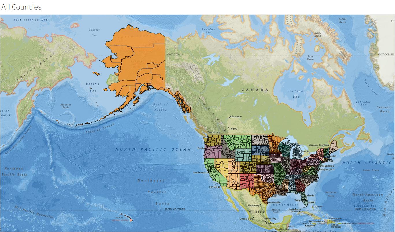 Danims Blog A Useful USA County Shapefile For Tableau And - Us zip code boundary shapefile